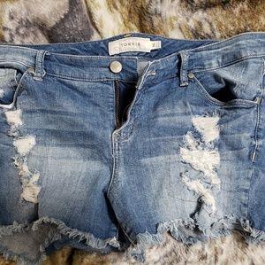 Torrid Jean shorts size 16